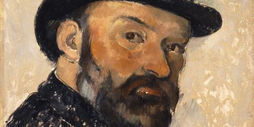 Paul Cézanne, Self Portrait in a Bowler Hat, 1885-86. Ny Carlsberg Glyptotek, Copenhagen. Photo Ole Haupt
